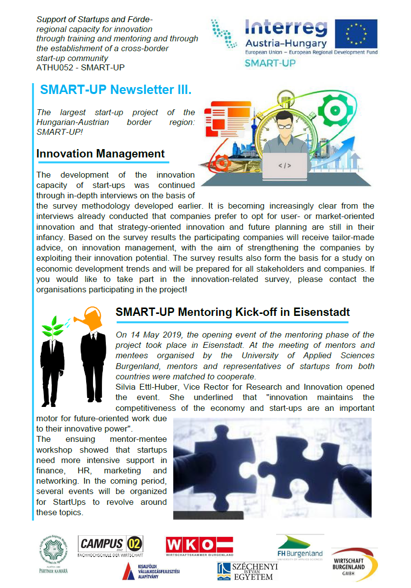 SMART-UP Newsletter III.