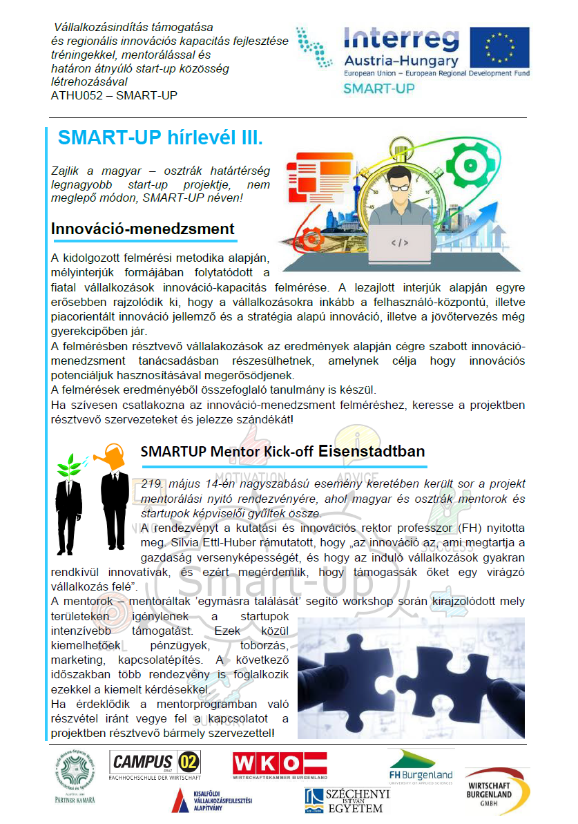 SMART-UP hírlevél III.