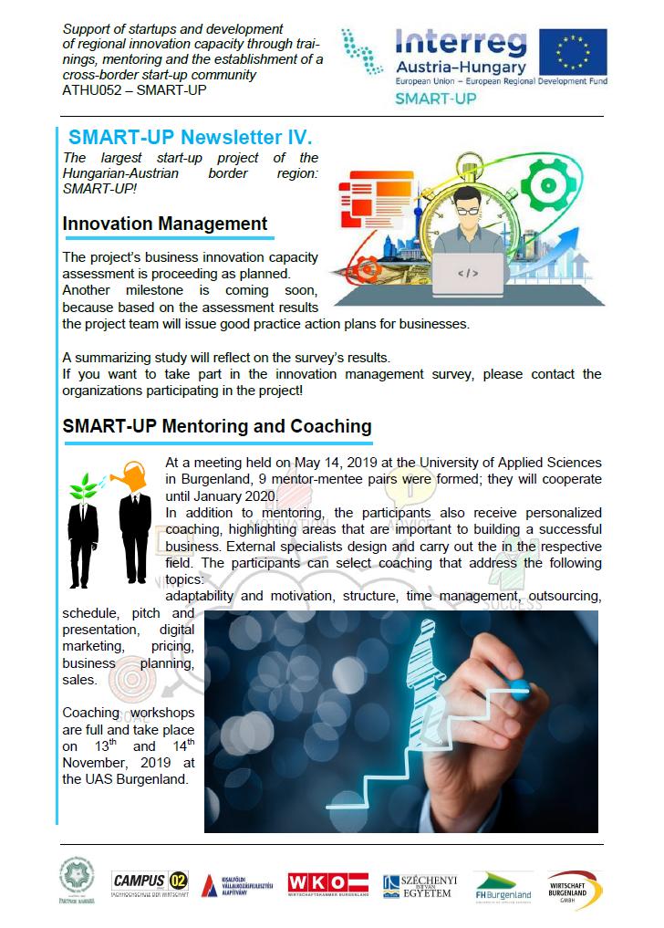 SMART-UP Newsletter IV.
